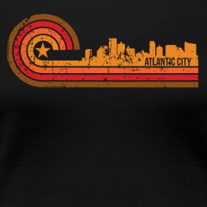 Retro Style Atlantic City New Jersey Skyline - Women's Premium T-Shirt