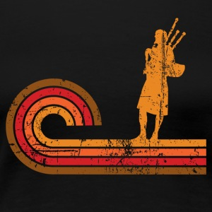 Retro Style Bagpipes Silhouette Music - Women's Premium T-Shirt