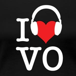 I Love VO - White Font - Women's Premium T-Shirt