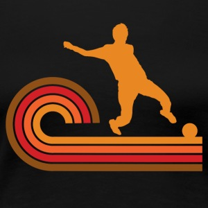 Retro Style Soccer Player Silhouette Sports - Women's Premium T-Shirt