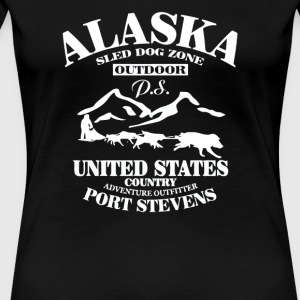 Alaska sled dog zone out dor - Women's Premium T-Shirt