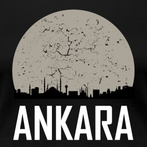 Ankara Full Moon Skyline - Women's Premium T-Shirt
