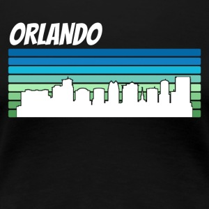 Retro Orlando Skyline - Women's Premium T-Shirt