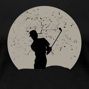 Golfing Full Moon - Women's Premium T-Shirt