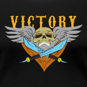 VICTORY Flying Skull - Women's Premium T-Shirt