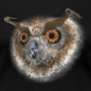 Smoking Owl Nature White - Women's Premium T-Shirt