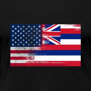 Hawaii American Flag Fusion - Women's Premium T-Shirt