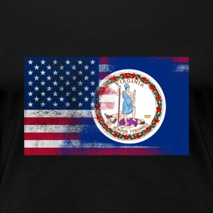 Virginia American Flag Fusion - Women's Premium T-Shirt