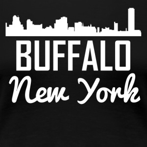 Buffalo New York Skyline - Women's Premium T-Shirt