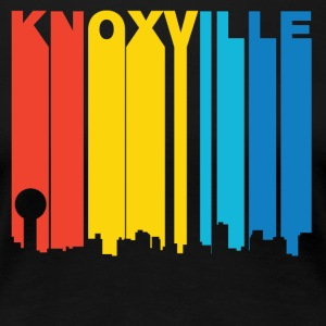 Retro 1970's Style Knoxville Tennessee Skyline - Women's Premium T-Shirt