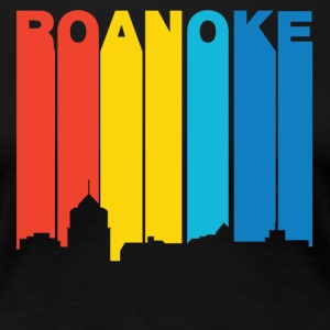 Retro 1970's Style Roanoke Virginia Skyline - Women's Premium T-Shirt