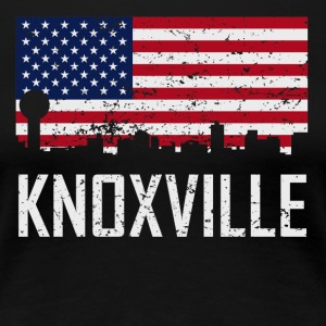 Knoxville Tennessee Skyline American Flag - Women's Premium T-Shirt