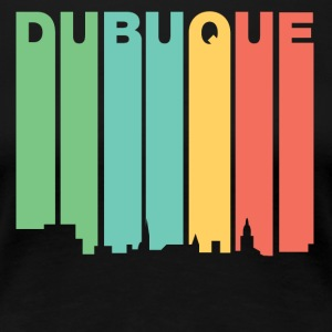Retro 1970's Style Dubuque Iowa Skyline - Women's Premium T-Shirt