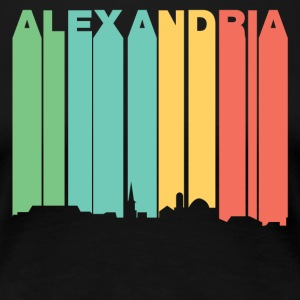Retro 1970's Style Alexandria Virginia Skyline - Women's Premium T-Shirt