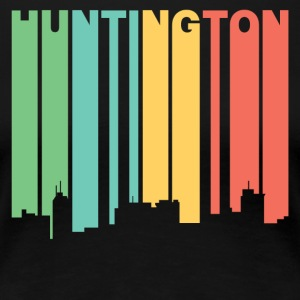 Retro 1970's Style Huntington WV Skyline - Women's Premium T-Shirt