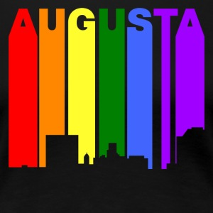 Augusta Georgia Gay Pride Rainbow Skyline - Women's Premium T-Shirt