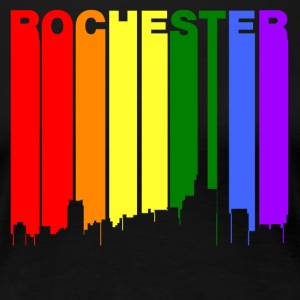 Rochester Michigan Gay Pride Rainbow Skyline - Women's Premium T-Shirt