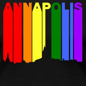 Annapolis Maryland Gay Pride Rainbow Skyline - Women's Premium T-Shirt