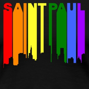 Saint Paul Minnesota Gay Pride Rainbow Skyline - Women's Premium T-Shirt