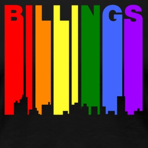 Billings Montana Gay Pride Rainbow Skyline - Women's Premium T-Shirt