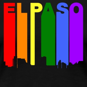El Paso Texas Gay Pride Rainbow Skyline - Women's Premium T-Shirt