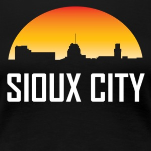 Sioux City Iowa Sunset Skyline - Women's Premium T-Shirt