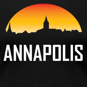 Annapolis Maryland Sunset Skyline - Women's Premium T-Shirt