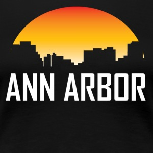 Ann Arbor Michigan Sunset Skyline - Women's Premium T-Shirt