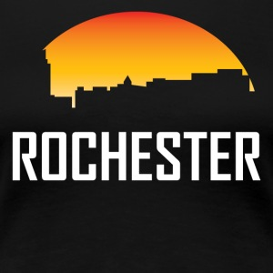 Rochester Minnesota Sunset Skyline - Women's Premium T-Shirt