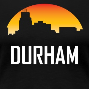 Durham North Carolina Sunset Skyline - Women's Premium T-Shirt