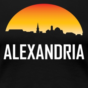 Alexandria Virginia Sunset Skyline - Women's Premium T-Shirt