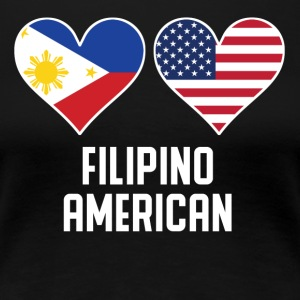 Filipino American Heart Flags - Women's Premium T-Shirt