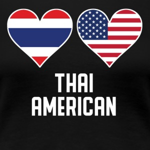 Thai American Heart Flags - Women's Premium T-Shirt