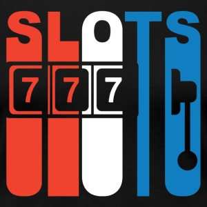 Red White And Blue Slots Slot Machine - Women's Premium T-Shirt