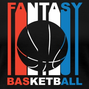Red White And Blue Fantasy Basketball - Women's Premium T-Shirt