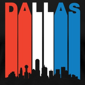 Red White And Blue Dallas Texas Skyline - Women's Premium T-Shirt