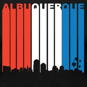 Red White And Blue Albuquerque New Mexico Skyline - Women's Premium T-Shirt