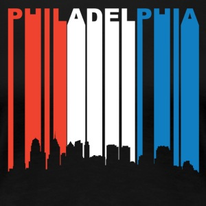 Red White Blue Philadelphia Pennsylvania Skyline - Women's Premium T-Shirt