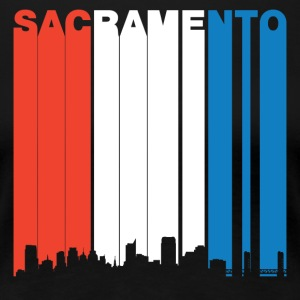Red White And Blue Sacramento California Skyline - Women's Premium T-Shirt