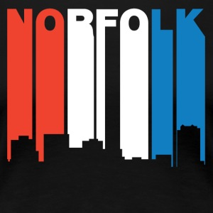 Red White And Blue Norfolk Virginia Skyline - Women's Premium T-Shirt