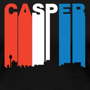 Red White And Blue Casper Wyoming Skyline - Women's Premium T-Shirt