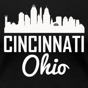 Cincinnati Ohio Skyline - Women's Premium T-Shirt