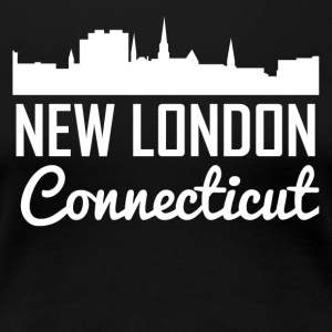 New London Connecticut Skyline - Women's Premium T-Shirt
