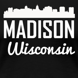 Madison Wisconsin Skyline - Women's Premium T-Shirt
