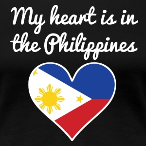 My Heart Is In the Philippines - Women's Premium T-Shirt