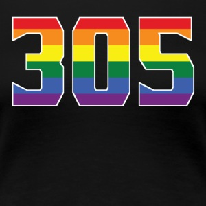 Gay Pride 305 Miami Area Code - Women's Premium T-Shirt