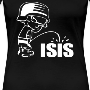 Pee On Isis Decal Look - Women's Premium T-Shirt