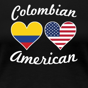 Colombian American Flag Hearts - Women's Premium T-Shirt