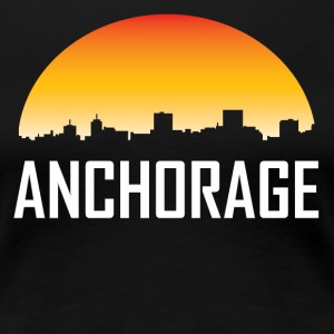 Anchorage Alaska Sunset Skyline - Women's Premium T-Shirt