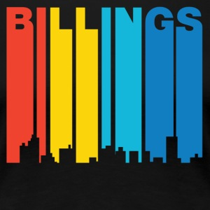 Retro 1970's Style Billings Montana Skyline - Women's Premium T-Shirt